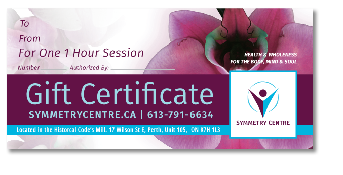 Symmetry Centre Gift Certificates
